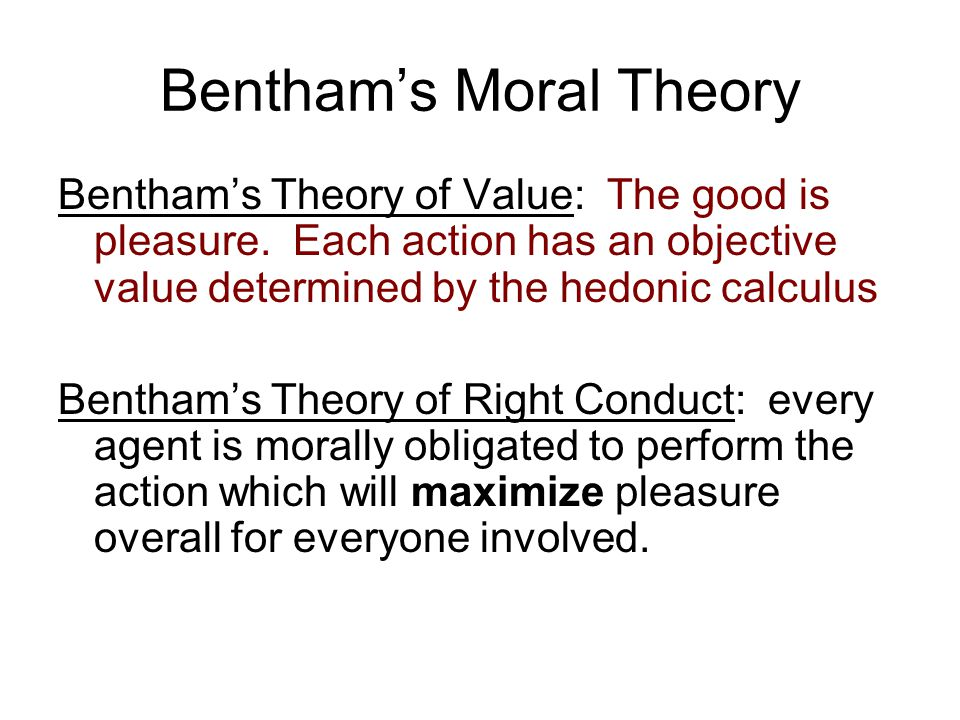 Bentham's Moral Theory
