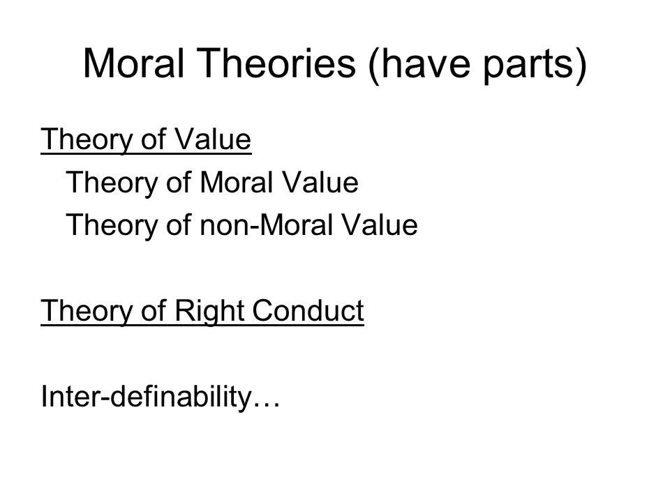 Moral Theories (have parts)