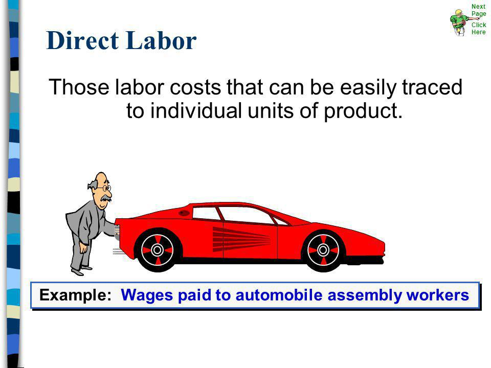 Example: Wages paid to automobile assembly workers