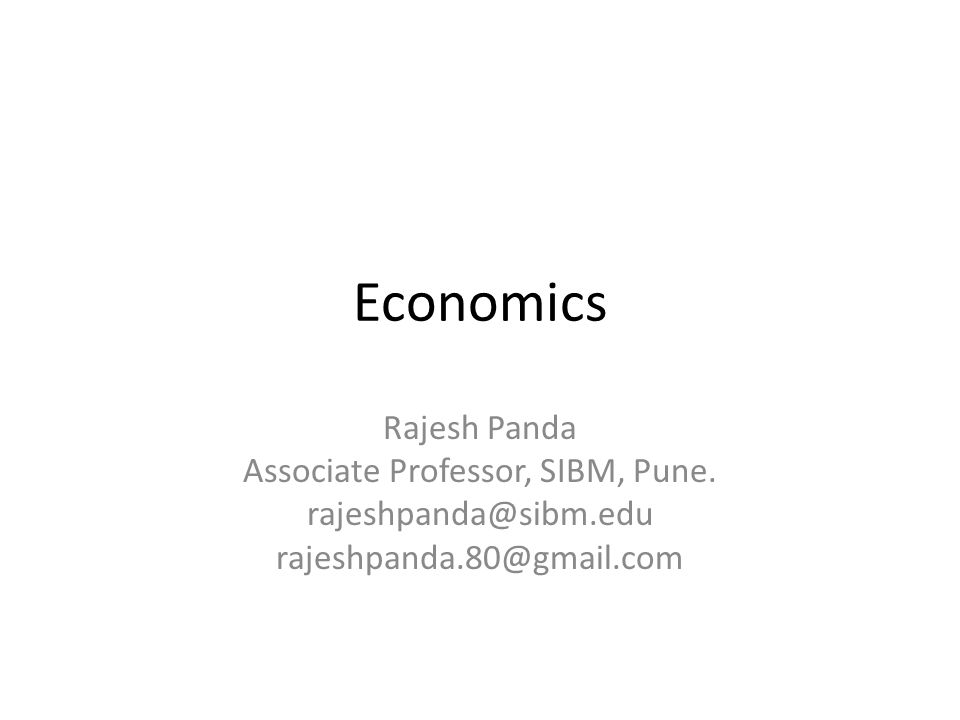 Associate Professor, SIBM, Pune.