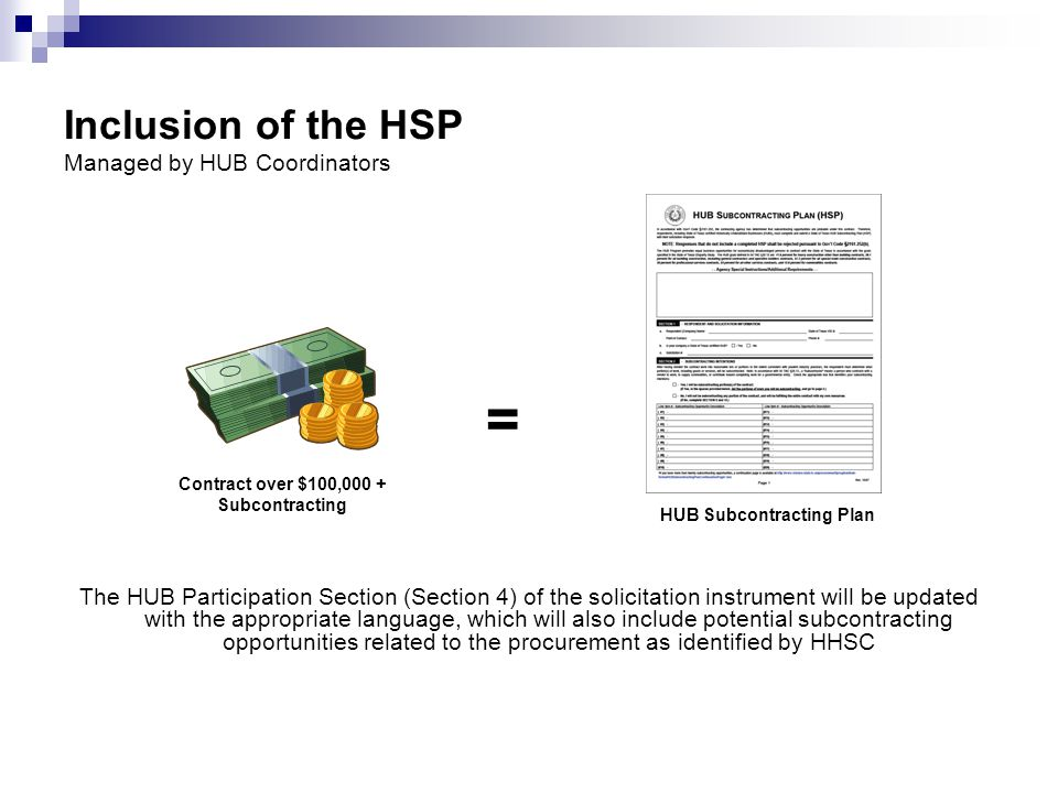 Inclusion of the HSP Managed by HUB Coordinators