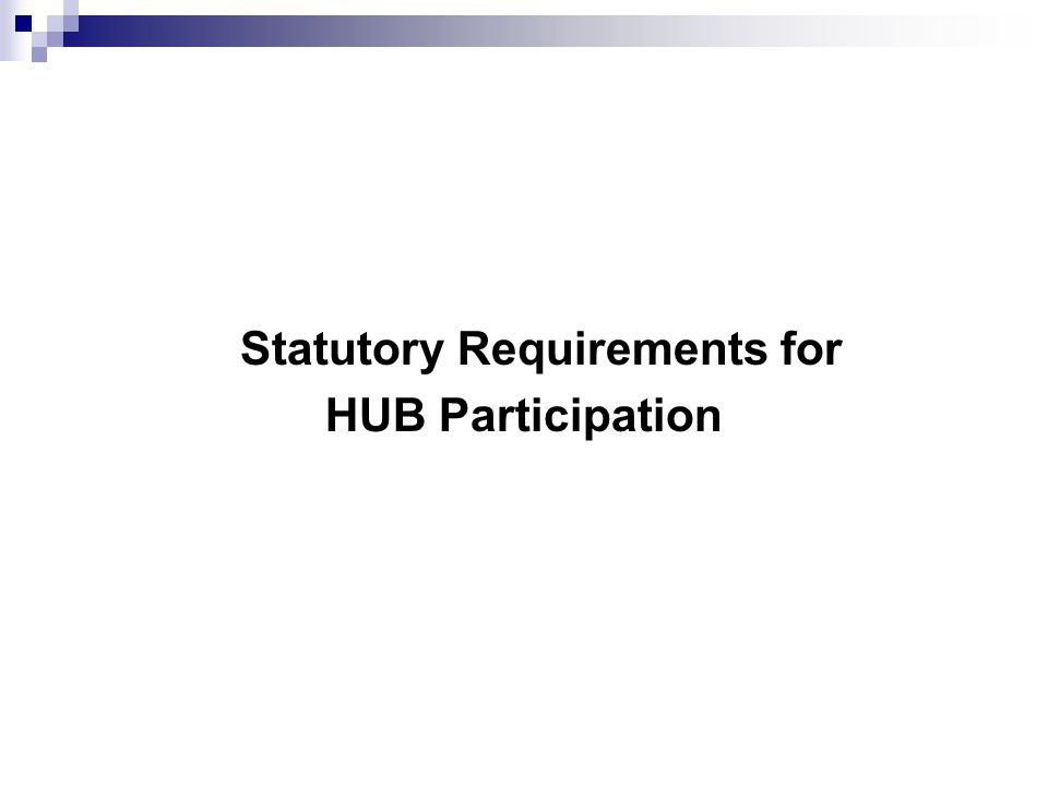 Statutory Requirements for