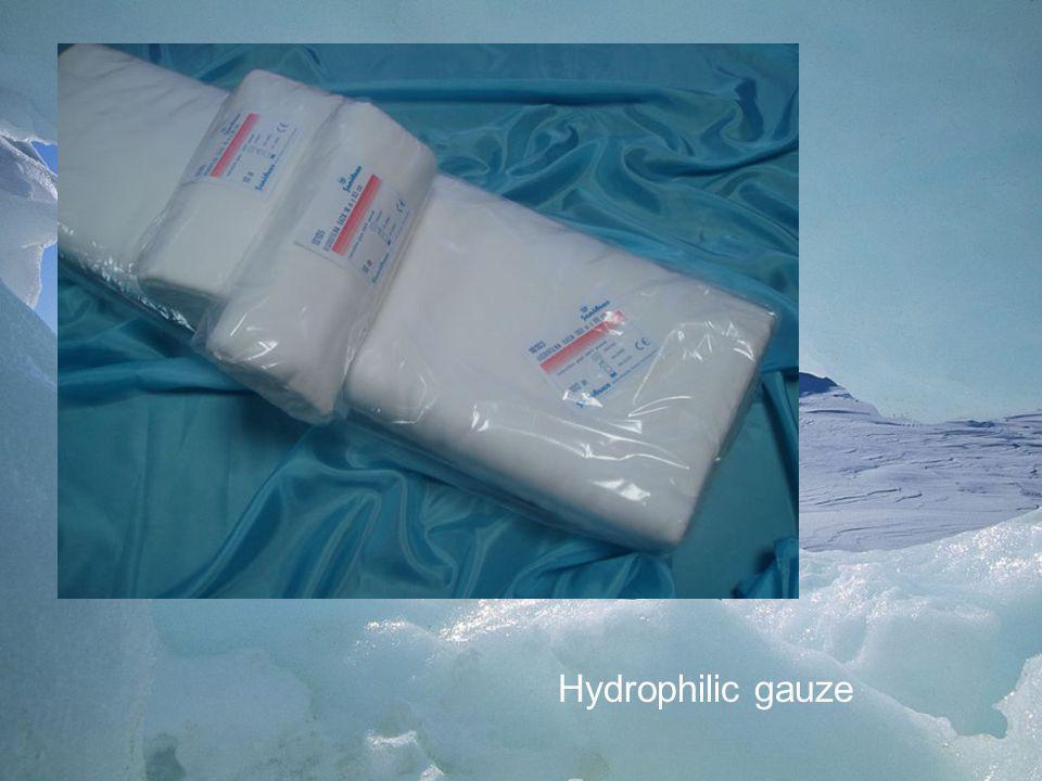 Hydrophilic gauze