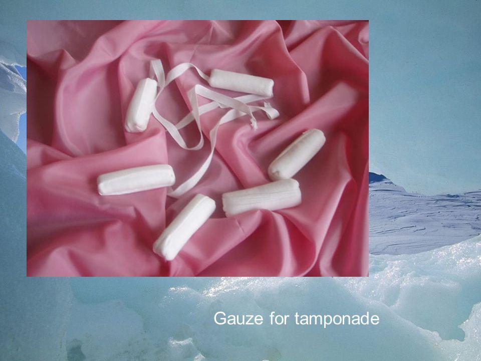 Gauze for tamponade