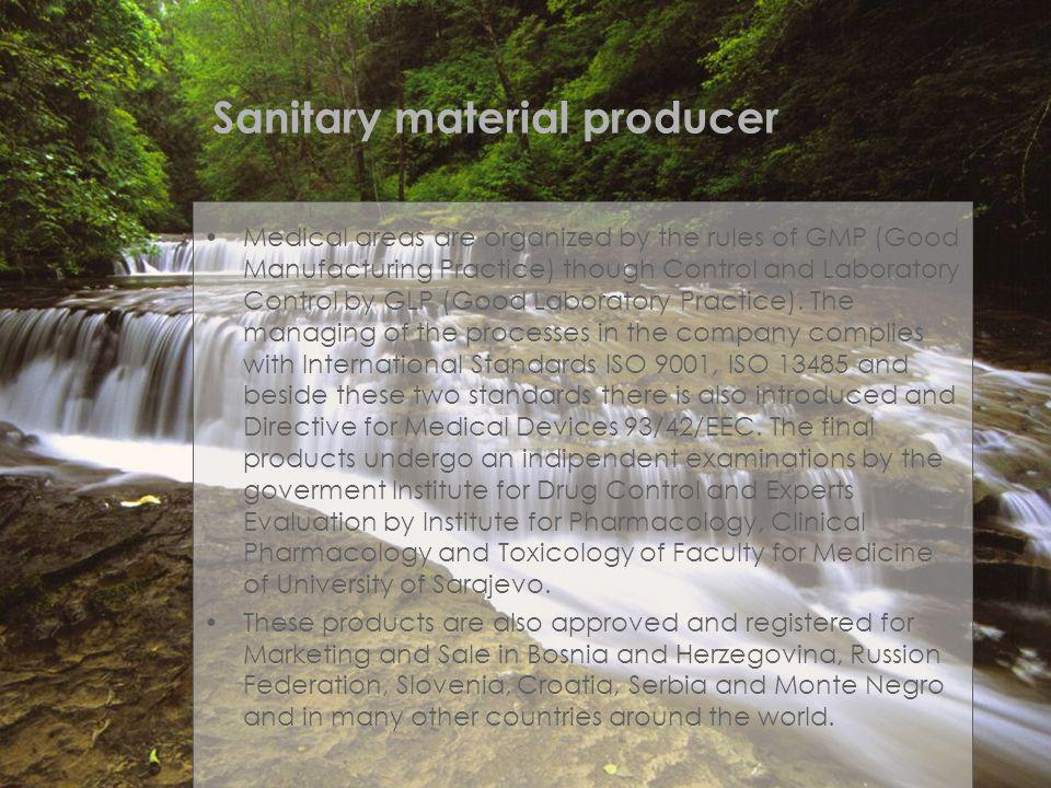 Sanitary material producer