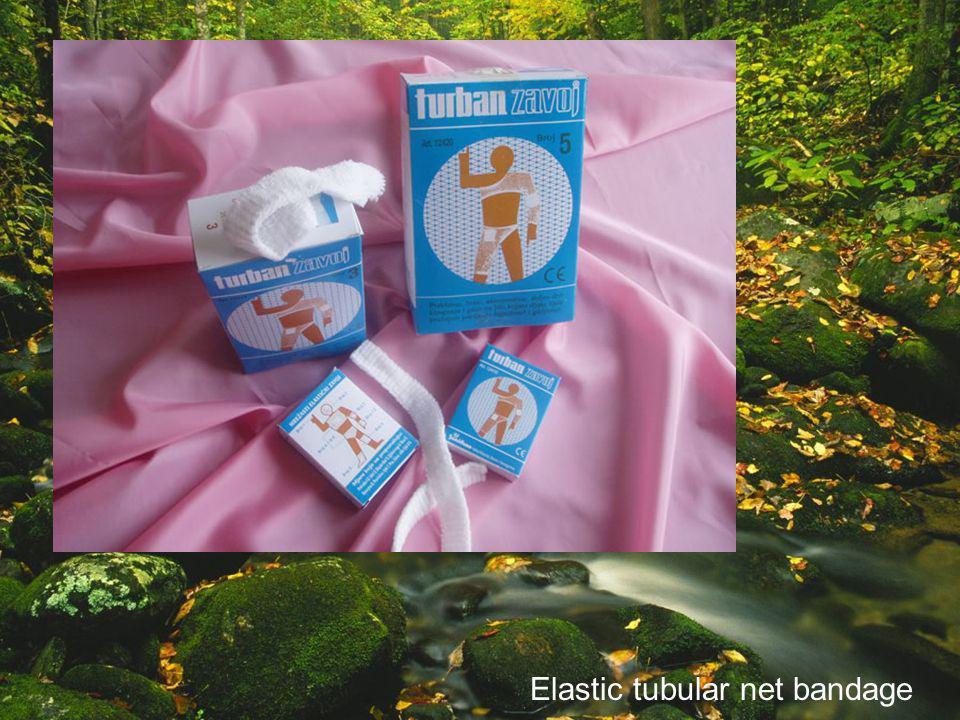 Elastic tubular net bandage