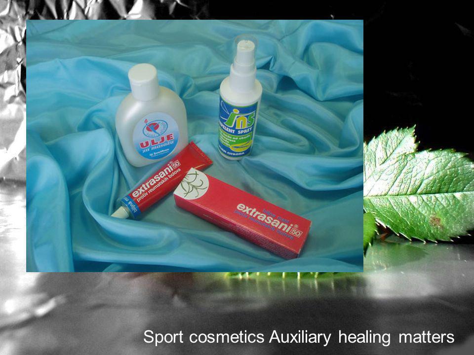 Sport cosmetics Auxiliary healing matters
