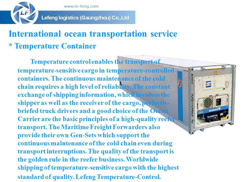 International ocean transportation service