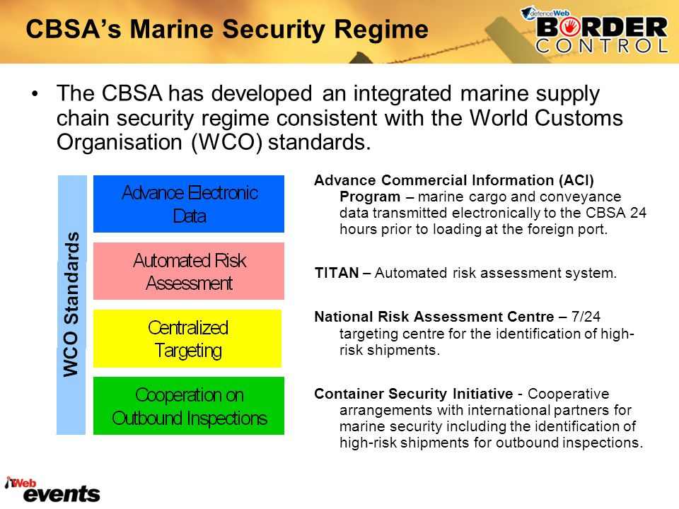 CBSA's Marine Security Regime