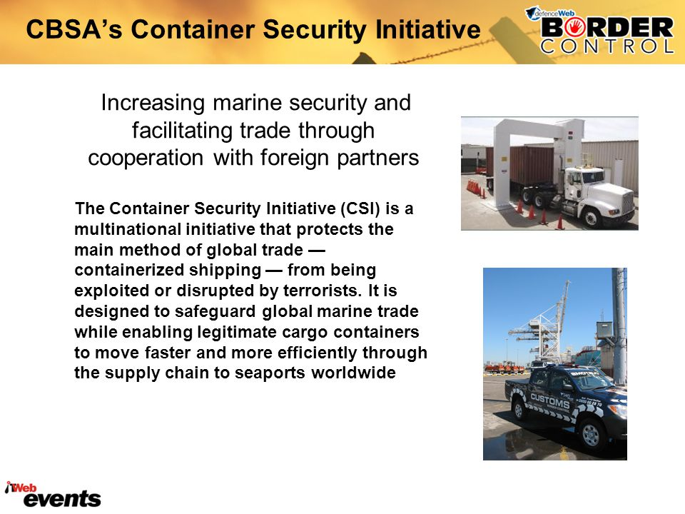 CBSA's Container Security Initiative