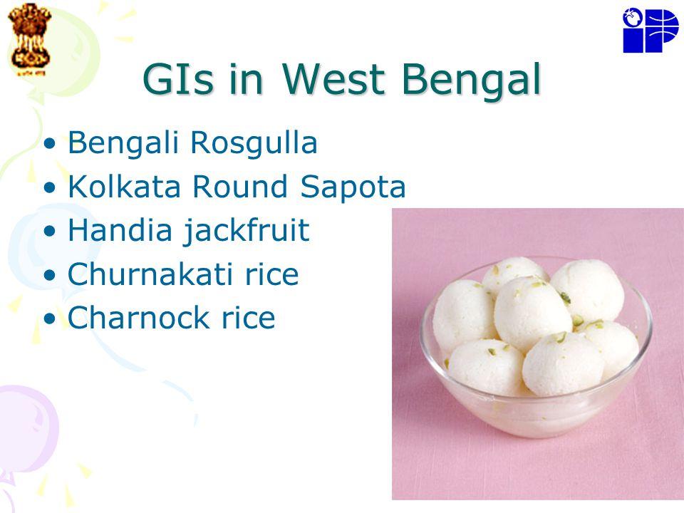 GIs in West Bengal Bengali Rosgulla Kolkata Round Sapota