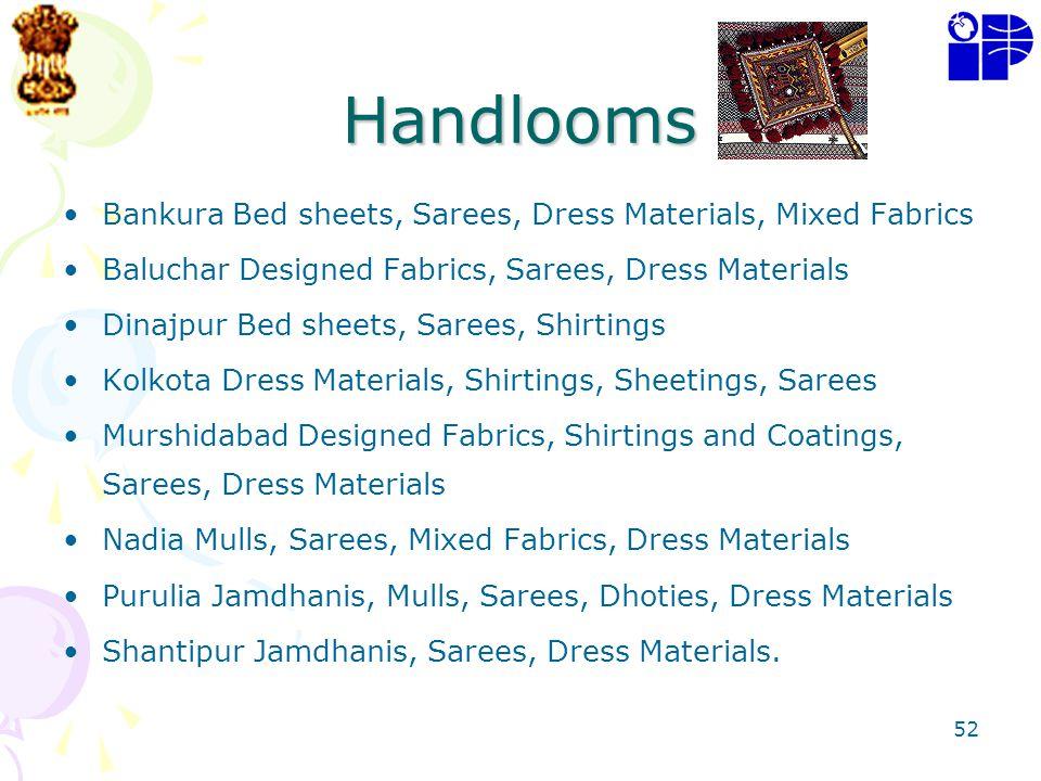Handlooms Bankura Bed sheets, Sarees, Dress Materials, Mixed Fabrics