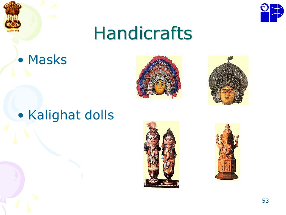 Handicrafts Masks Kalighat dolls