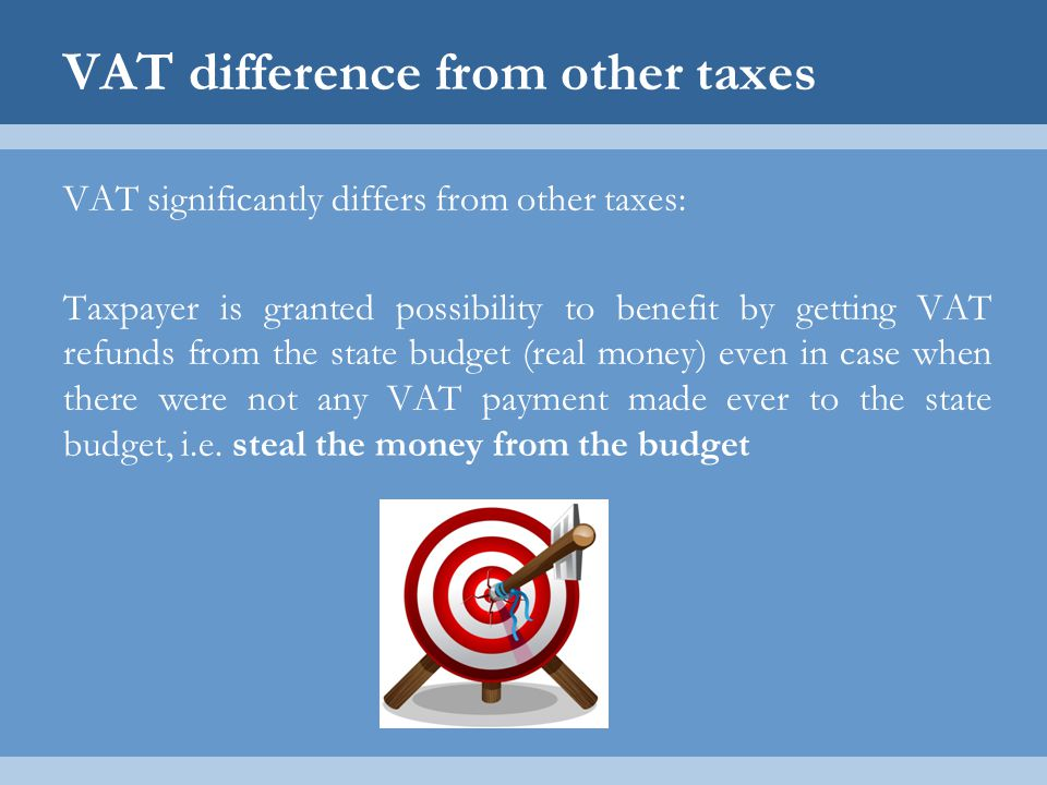 VAT difference from other taxes