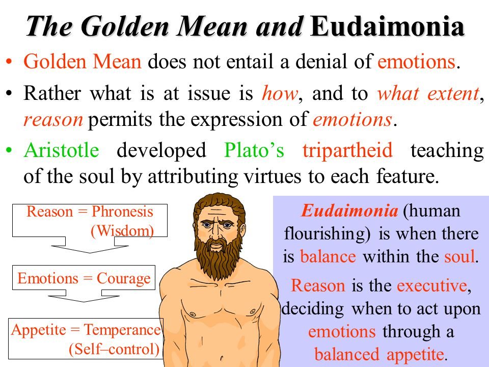 The Golden Mean and Eudaimonia