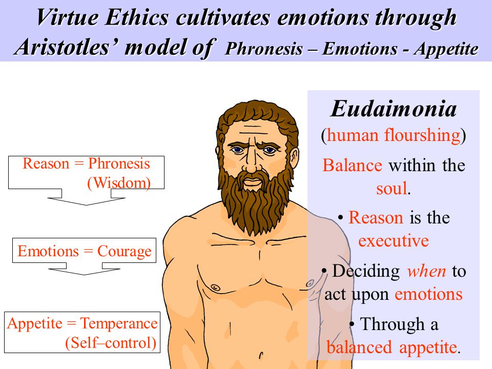 Virtue Ethics cultivates emotions through Aristotles' model of Phronesis – Emotions - Appetite