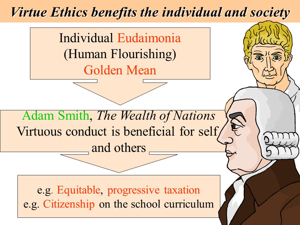 Virtue Ethics benefits the individual and society
