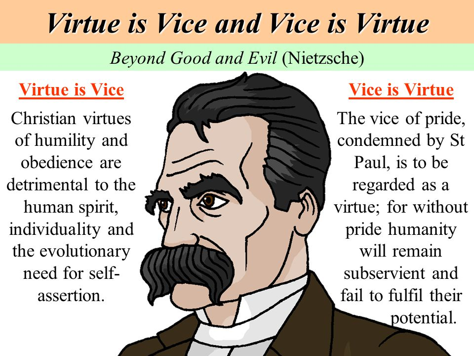 Virtue is Vice and Vice is Virtue