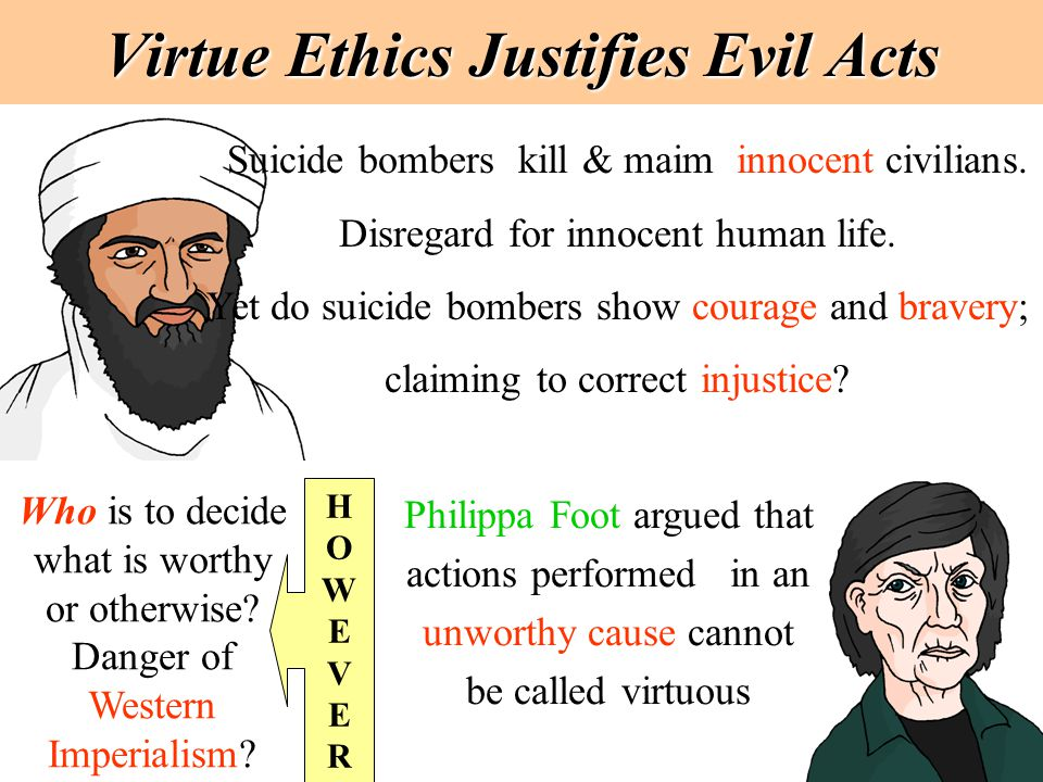 Virtue Ethics Justifies Evil Acts