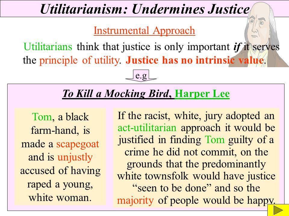Utilitarianism: Undermines Justice