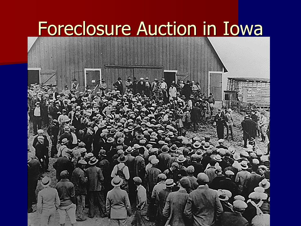 Foreclosure Auction in Iowa
