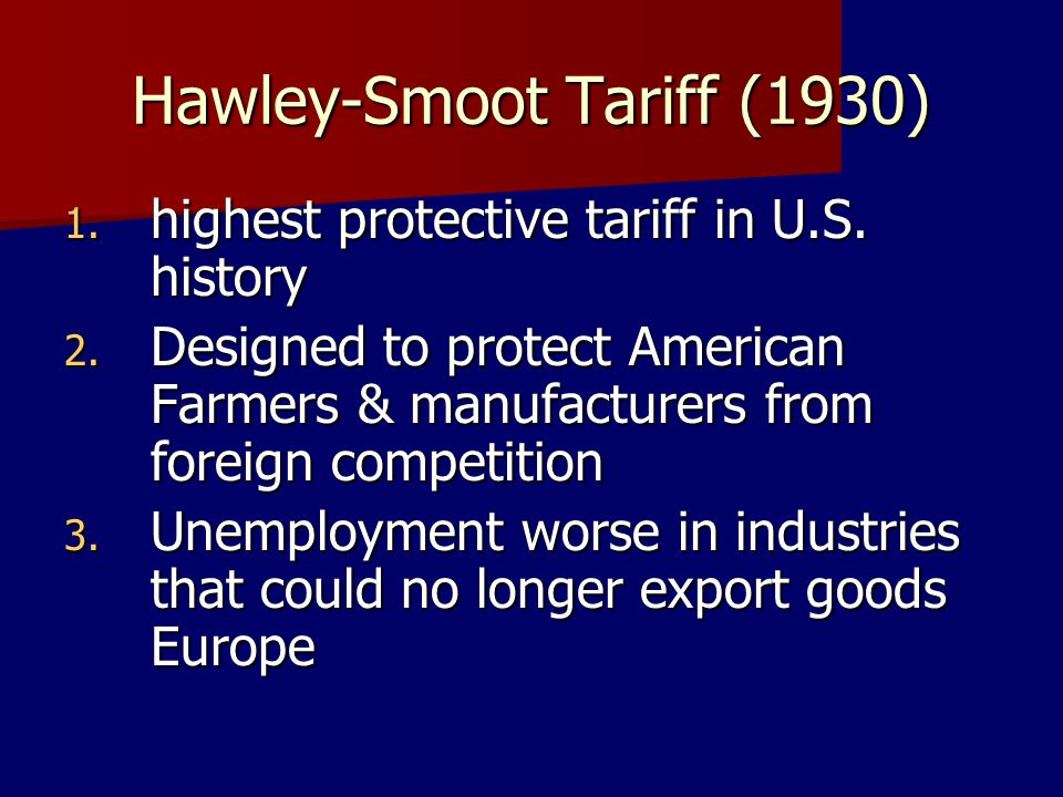 Hawley-Smoot Tariff (1930)