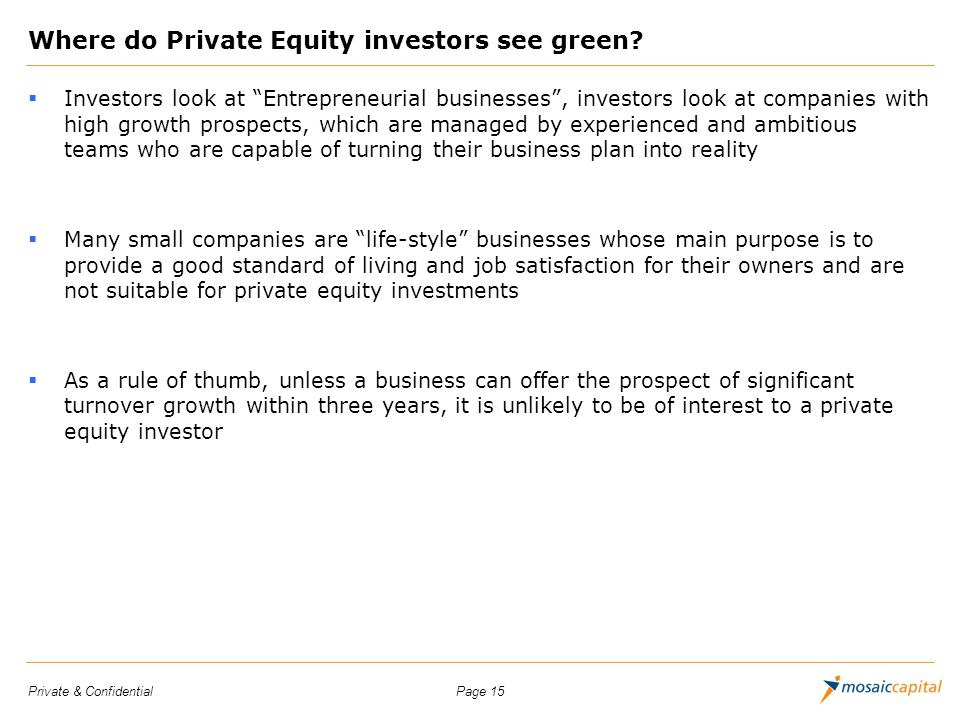 Where do Private Equity investors see green