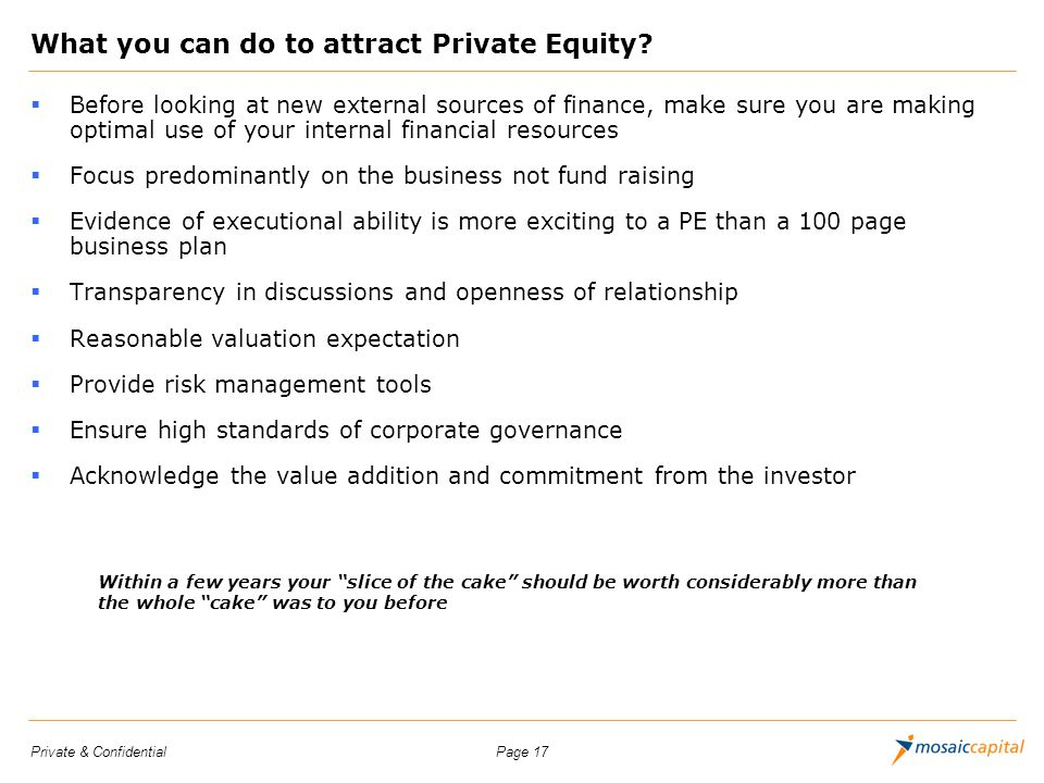 What you can do to attract Private Equity