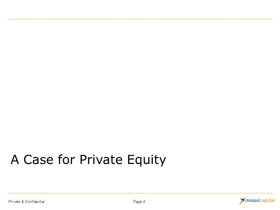 A Case for Private Equity