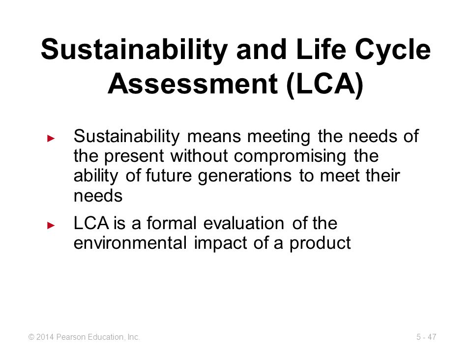 Sustainability and Life Cycle Assessment (LCA)