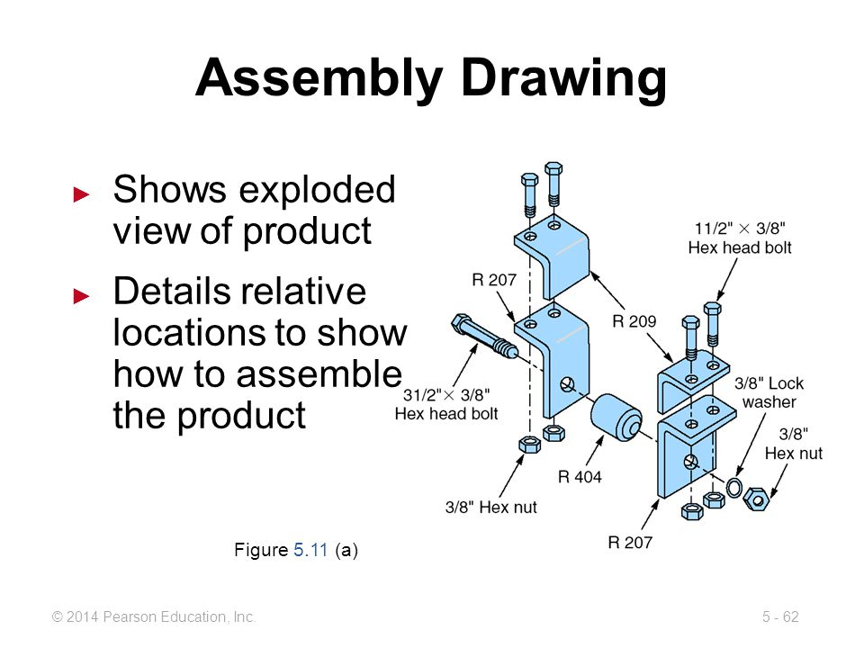 Assembly Drawing Shows exploded view of product