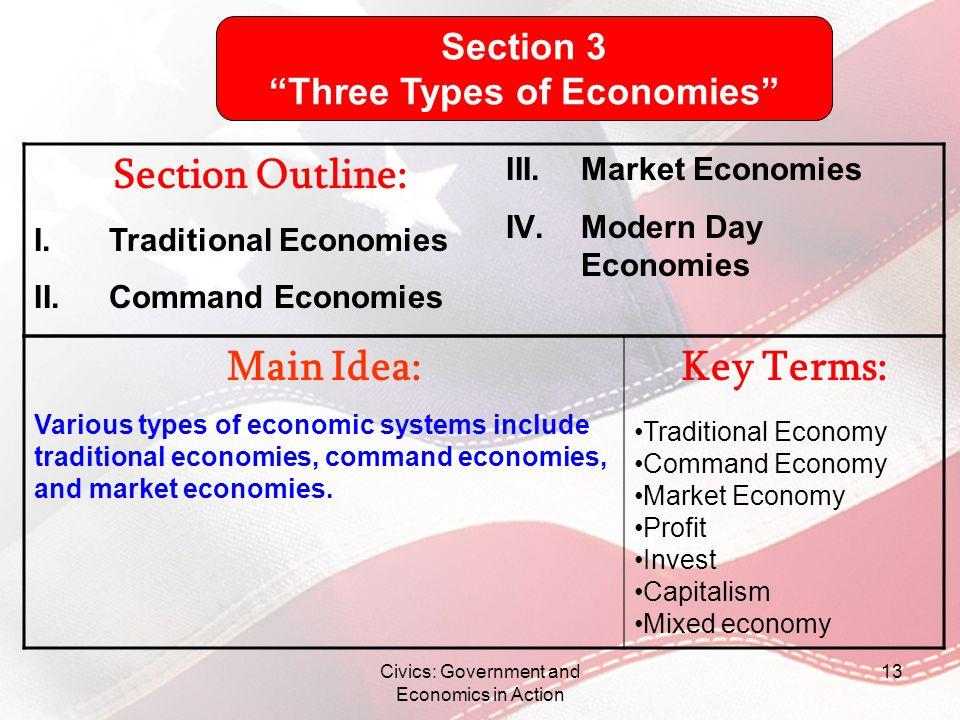 Three Types of Economies