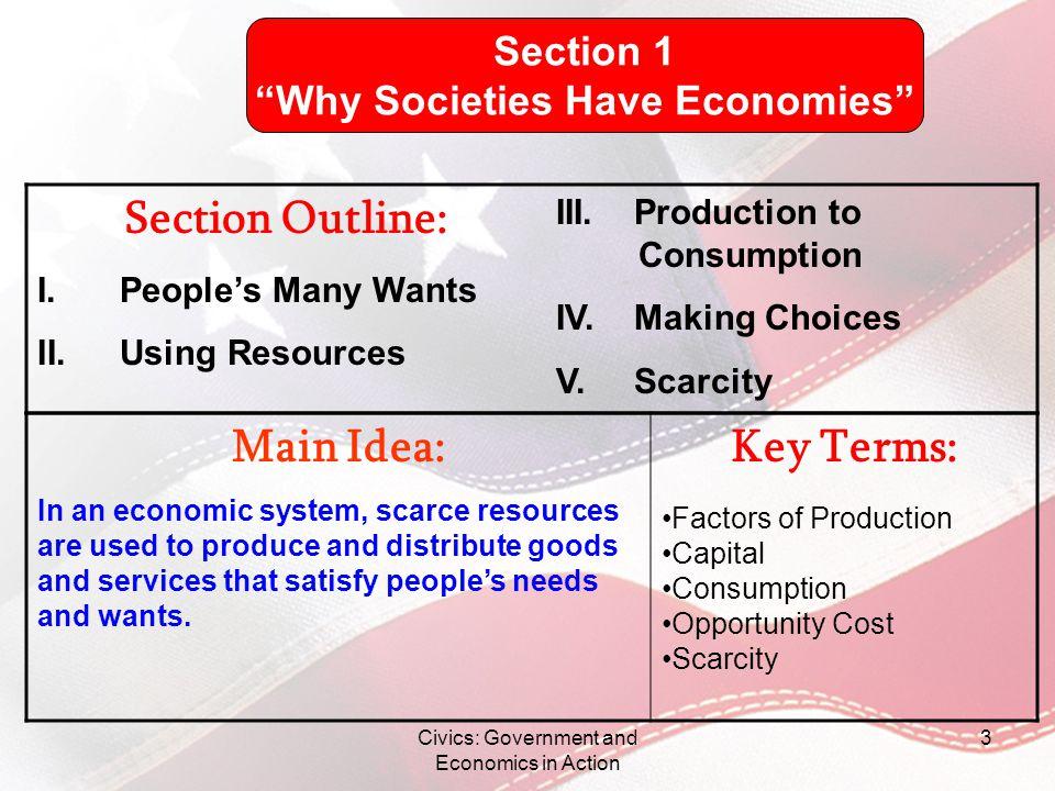 Why Societies Have Economies