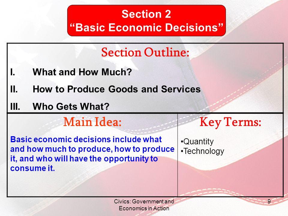 Basic Economic Decisions