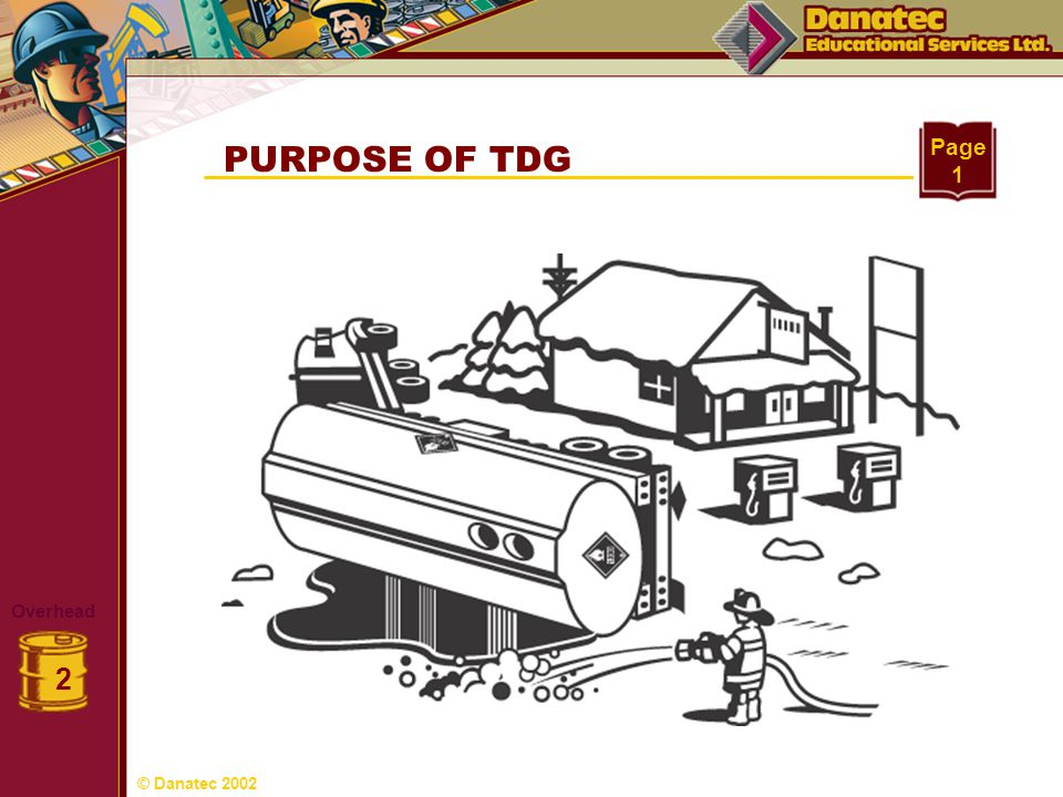 PURPOSE OF TDG Page 1 Overhead 2 © Danatec 2002