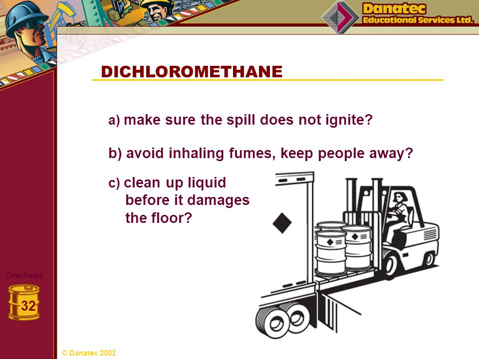 DICHLOROMETHANE before it damages the floor