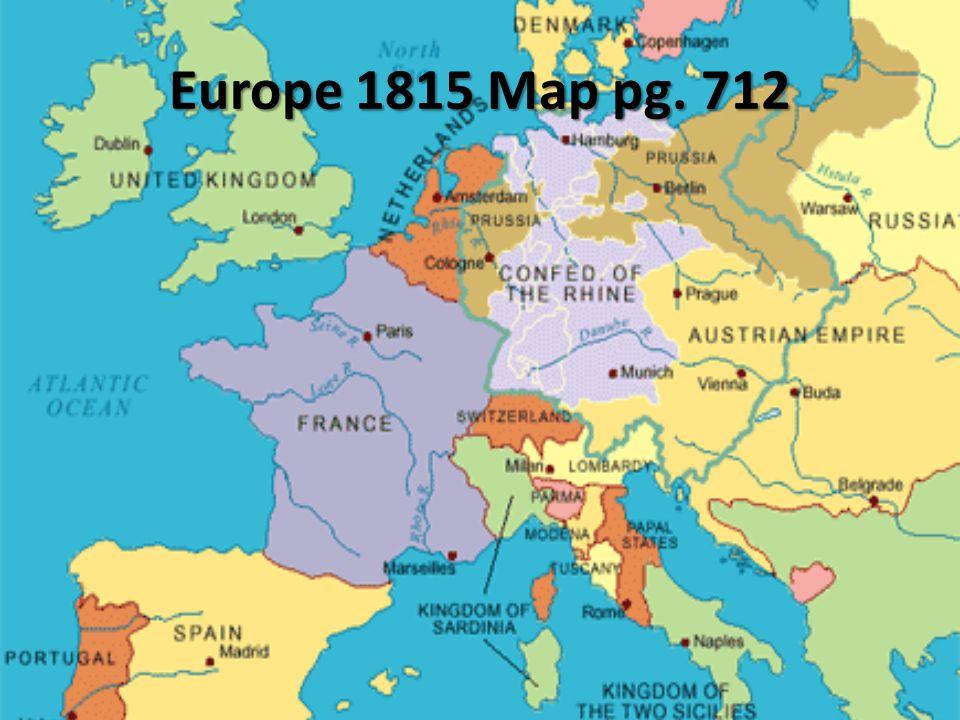 Europe 1815 Map pg. 712