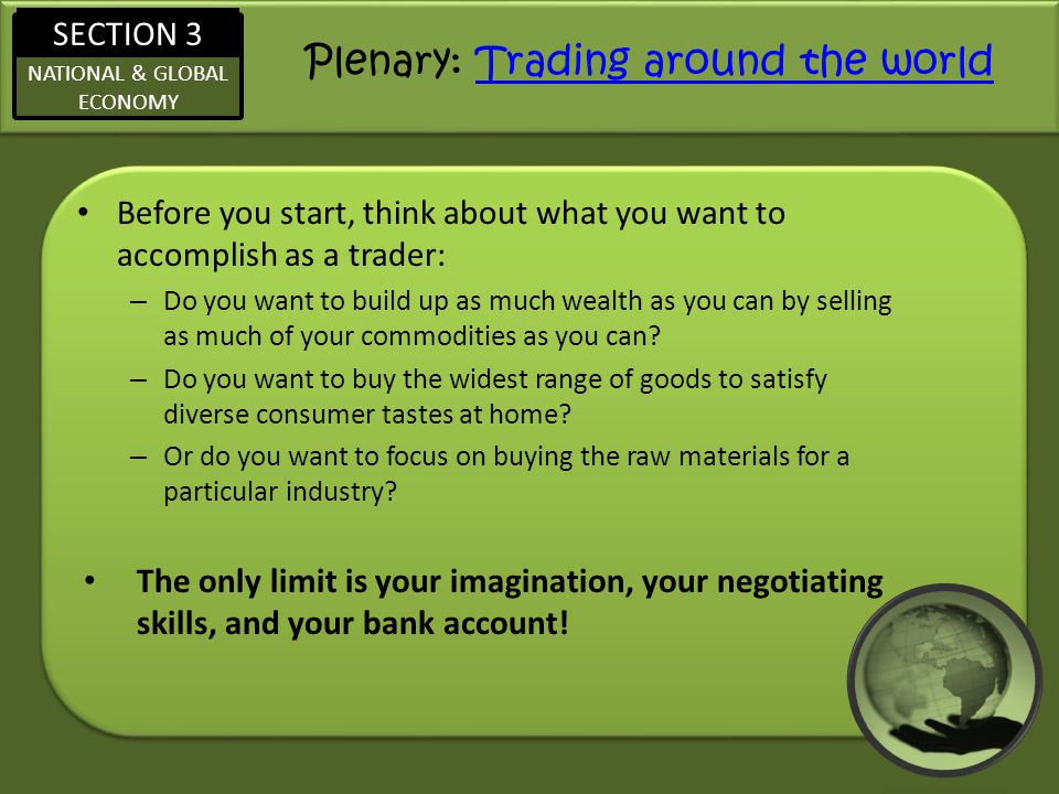 Plenary: Trading around the world
