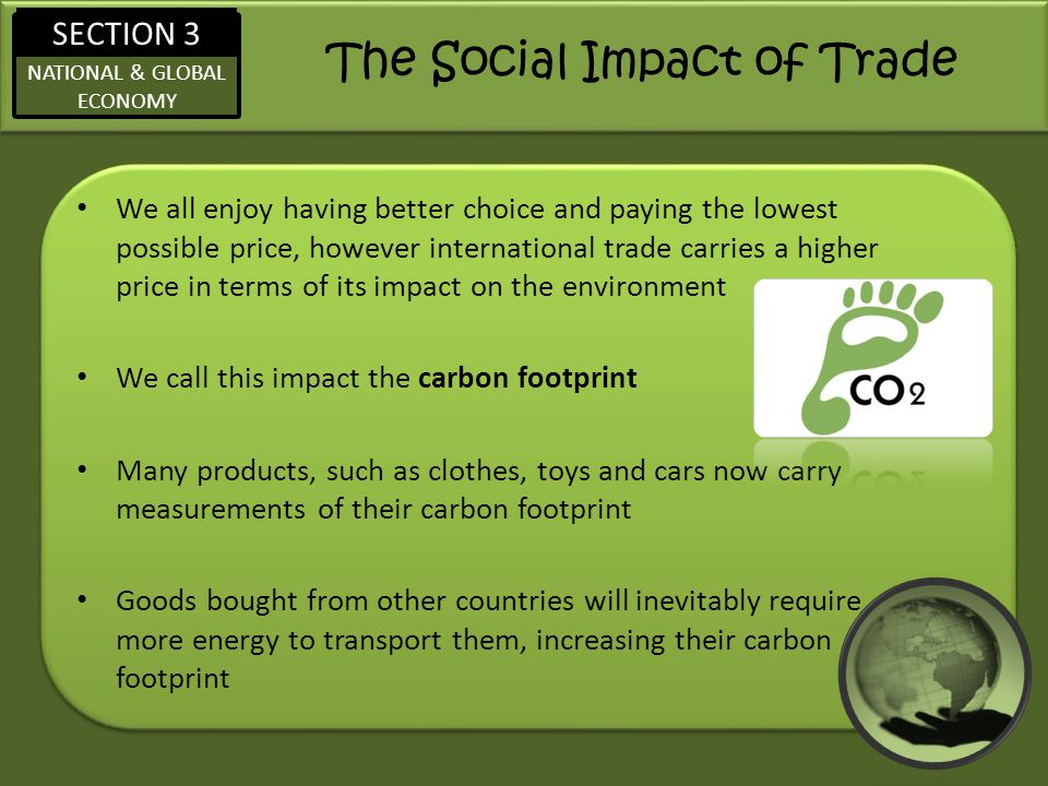 The Social Impact of Trade