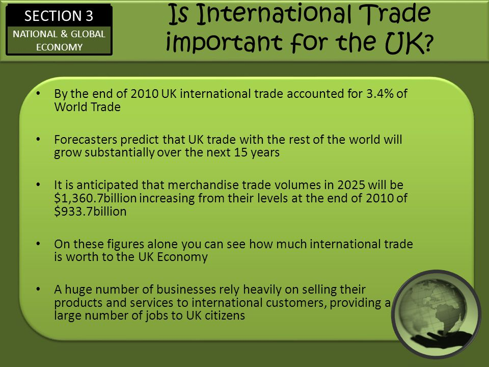 Is International Trade important for the UK