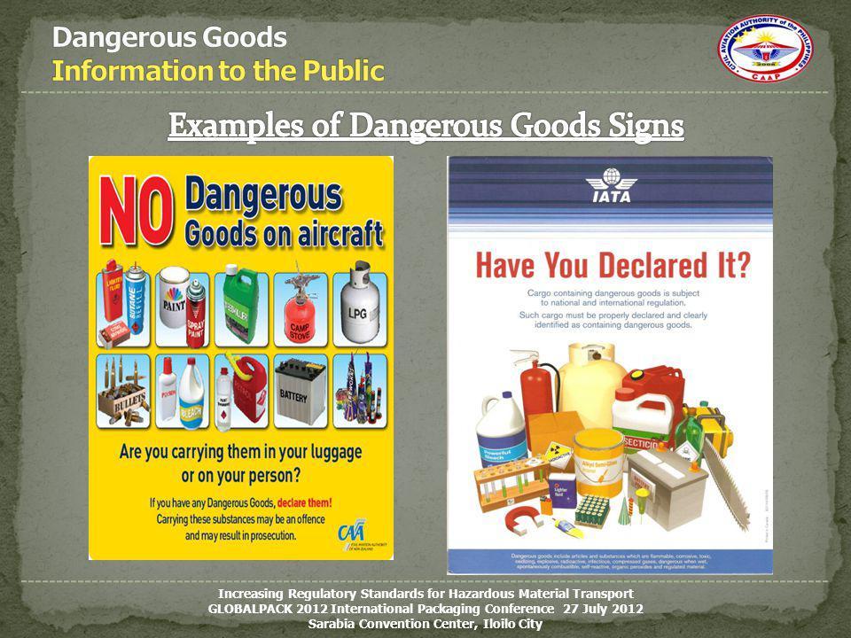 Dangerous Goods Information to the Public