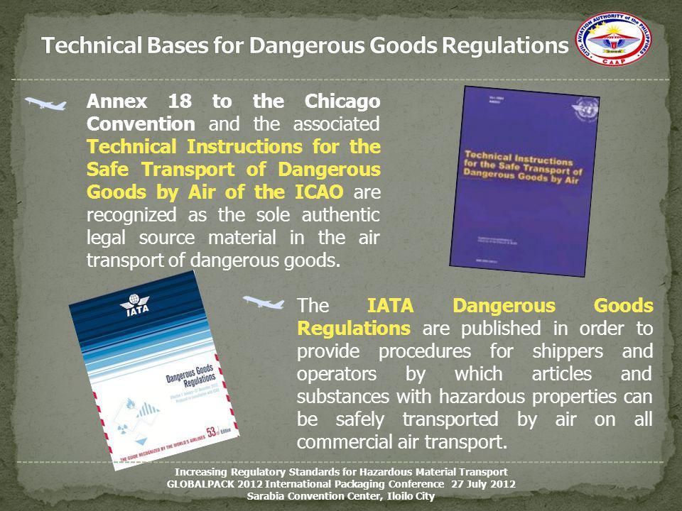 Technical Bases for Dangerous Goods Regulations