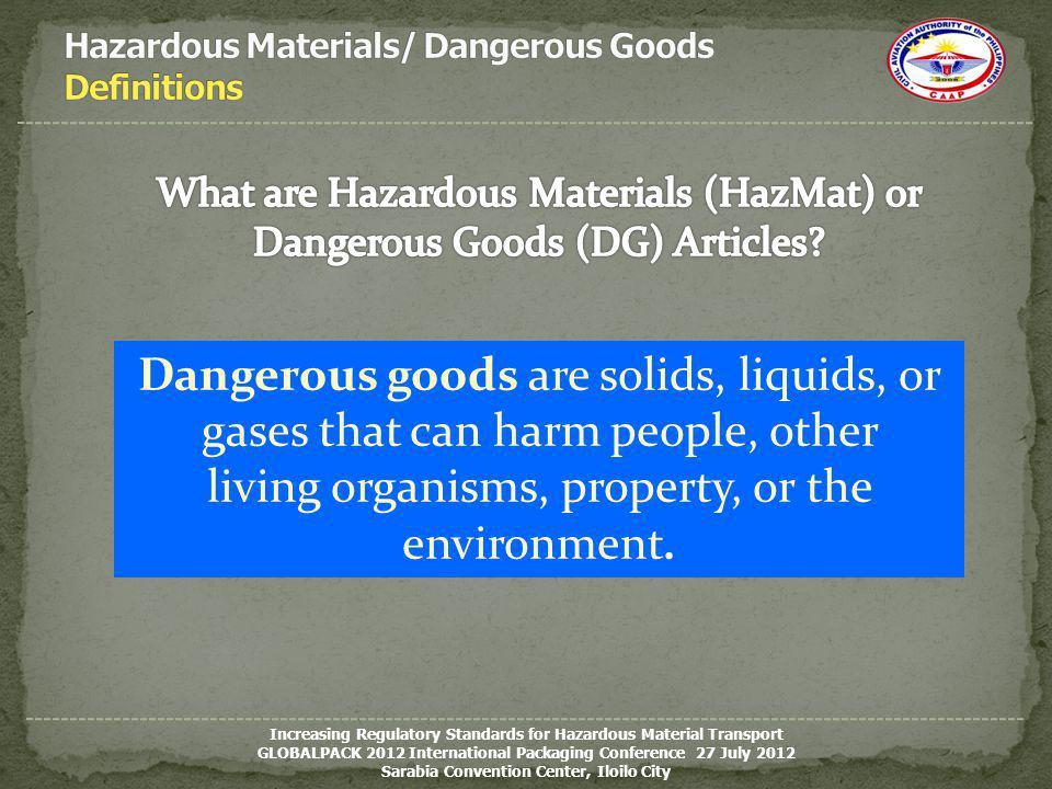 Hazardous Materials/ Dangerous Goods Definitions