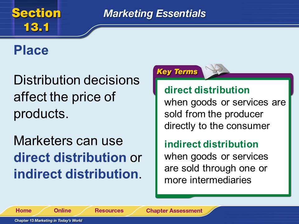 Distribution decisions affect the price of products.