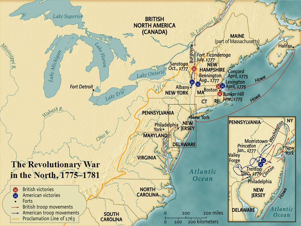 The Revolutionary War in the North, 1775–1781 • pg. 193