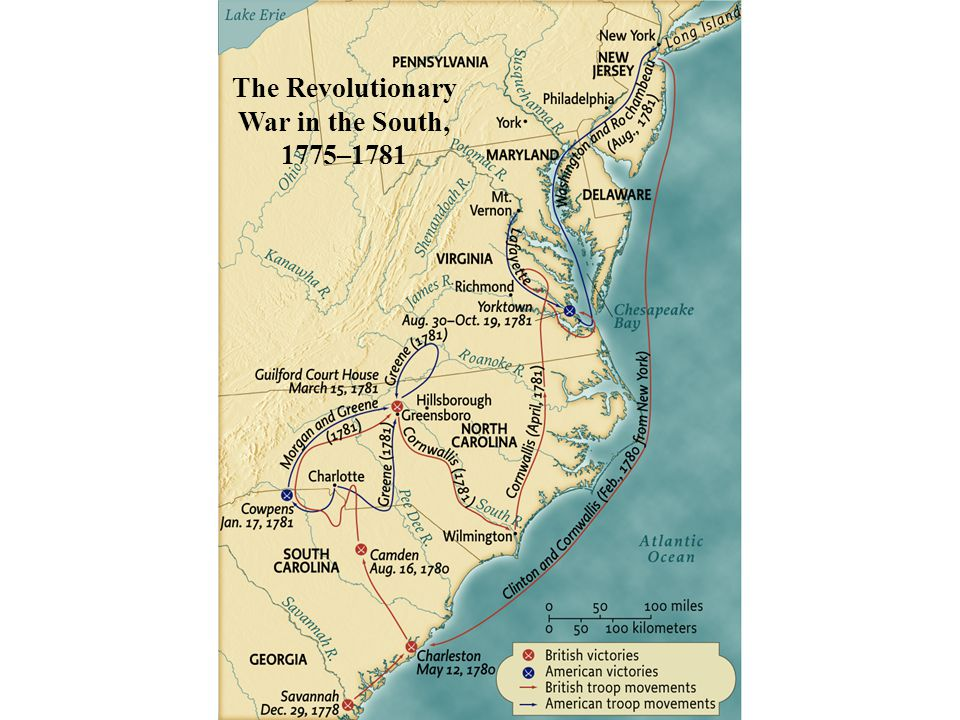 The Revolutionary War in the South, 1775–1781 • pg. 195
