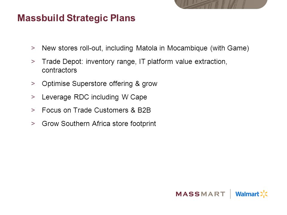 Massbuild Strategic Plans