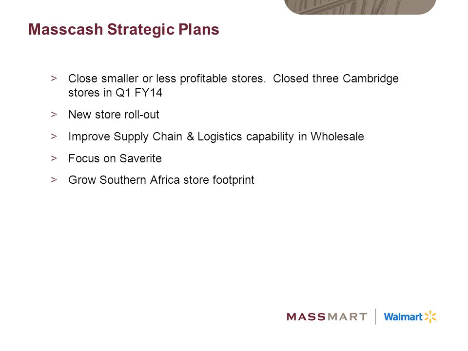 Masscash Strategic Plans
