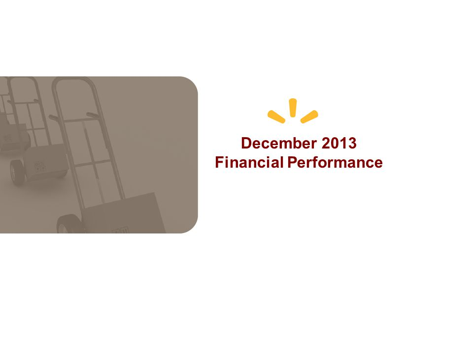 December 2013 Financial Performance