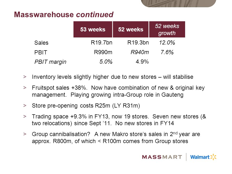 Masswarehouse continued
